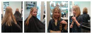 Wat een topper! Super trots op haar bobline en een mooie vlecht voor www.haarwensen.nl